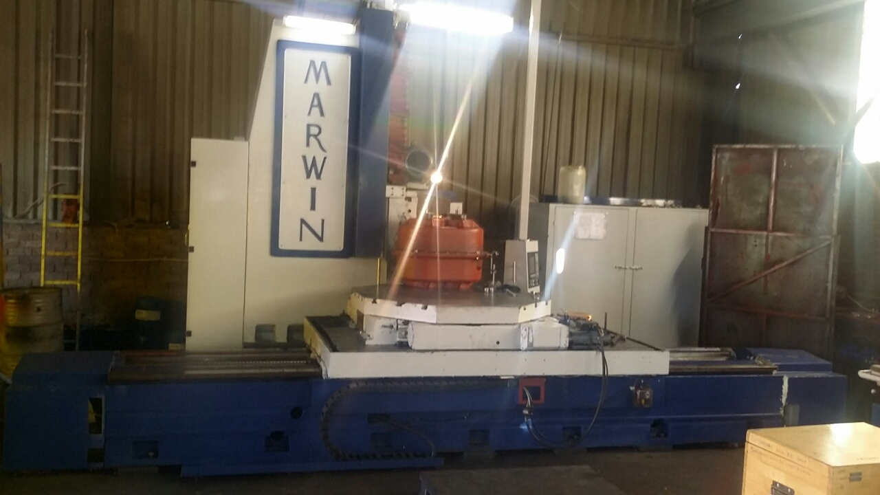 Used Marwin Cnc Bed Type Milling Machine Spartan Machine